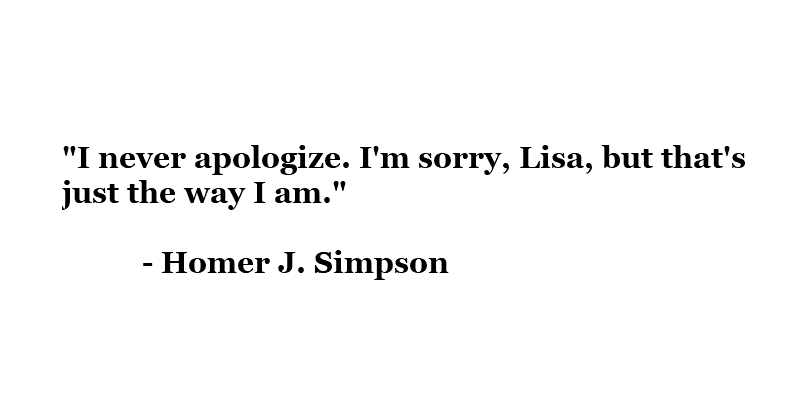 Homers Apology